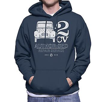 Citro?n 2CV Authorised Repair Service White Logo Men's Hooded Sweatshirt