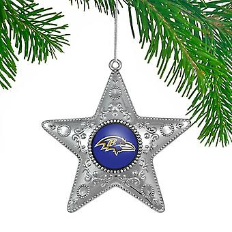 Baltimore Ravens NFL Sports Collectors Series Silver Star Ornament