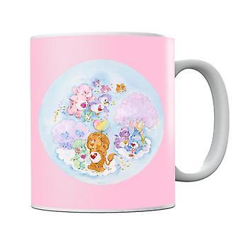 Pflege Bären Tapfere Herz Löwe rosa Bäume Becher
