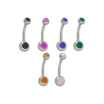 Double jeweled belly rings surgical steel