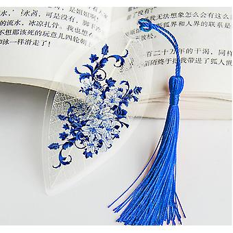 Waterproof Transparent Pvc Plastic Tassel Bookmarks, Collectibles Leaf Vein
