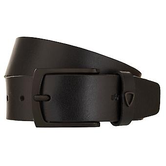 Strellson belts men's belts leather leather belt black 2362