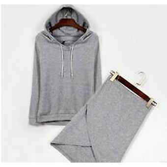 Fleece Suit Women, Hooded Cultivate Hoodies Skirts Set, Female Thicken Loose