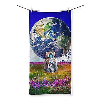 The world behind beach towel
