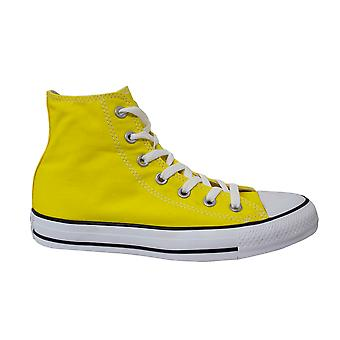 Converse Chuck Taylor Yellow Canvas Hi Top Lace Up Trainers 147125C