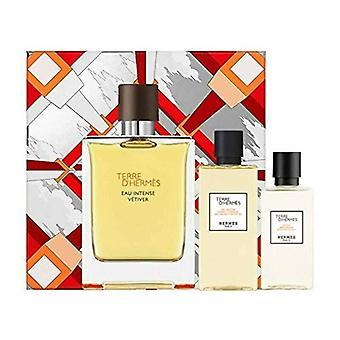 Hermes Terre d'Hermes Eau Intense Vetiver Gift Set 100ml EDP + 80ml Shower Gel + 40ml Aftershave Lotion