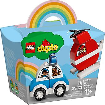 LEGO 10957 Fire fighting helicopter and police car