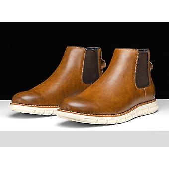 Top-quality Handsome Comfortable Retro Leather Chelsea Boots