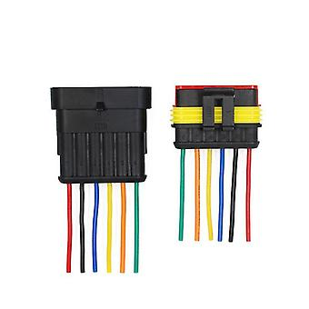 Waterproof, Electrical Auto Connector Plug With Wire Cable Harness