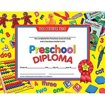 """Preschool Diploma, 8.5"""" X 11"""", Pack Of 30 H-Va706"""