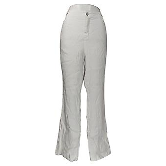 NYDJ Women's Pants The Trouser Zip Fly Button Closure Optic White A377710
