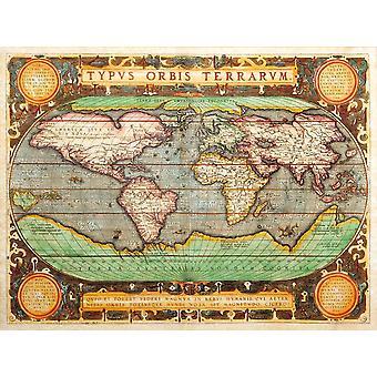 Mural de papel tapiz con un mapa antiguo de 1626 (17237806)