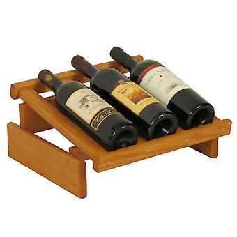 Rovere di legno 3 Bottiglia Dakota Wine Display, Rovere Medio