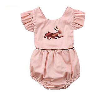 Baby Girl Animal Sleeveless Romper Jumpsuit