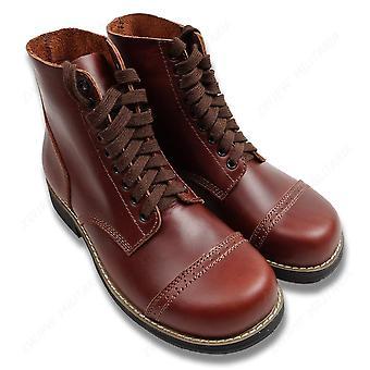 WW2 Us Army Leather Krótki Gang Odkryty Buty