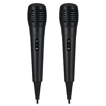 2Pcs PM-183 6.5MM Handheld Wired Dynamic Karaoke Microphone
