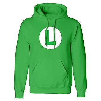 Super Mario Unisex Adulte Luigi Badge Pullover Hoodie