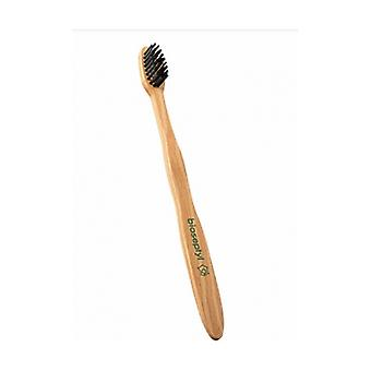 Adult wooden toothbrushes - soft - Green 1 unit