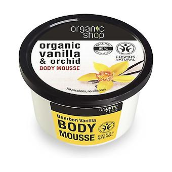 Organic Vanilla and Orchid Body Mousse 250 ml