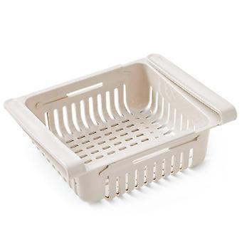 Kitchen Storage Shelf, Refrigerator Drawer, Plastic Plate, Layer Holders, Space