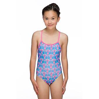 Maru Girls Flutter Pacer Aero Back Swim Suit - Turquoise