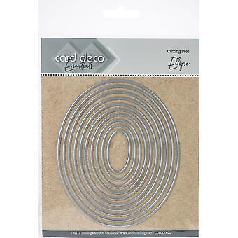 Hitta det Trading Card Deco Essentials häckande Cutting Dies-ellips