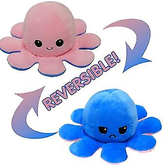 Flip Octopus Doll Double-sided Flip Doll Octopus Plush Toy, Easily Flipped Into Different Colors And Expressions
