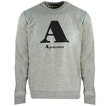 """Aquascutum """"A"""" Logo Grey Sweatshirt"""