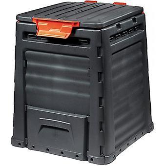 Gartenkomposter 320 L - schwarzer Kompostbehälter - 65x11x77 cm