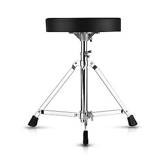 Universal drum throne round padded seat stool single-braced stainless steel legs anti-slip