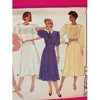 Butterick نمط الخياطة 3412 السيدات / يفتقد اللباس Cummerband حجم 10 غير المصقول