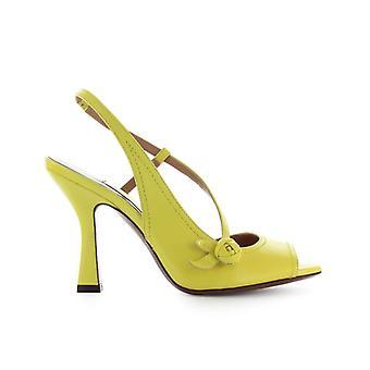 L'autre Chose Yellow Leather Slingback Sandal