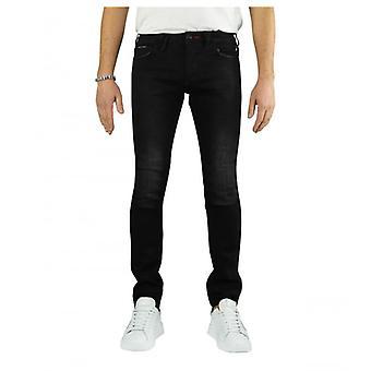 Philipp Plein Super Rechte Donkere Zij jeans