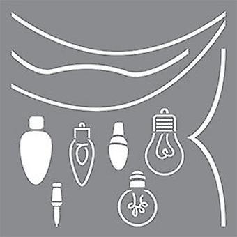 Decoart Adhesive Stencil - String of Lights