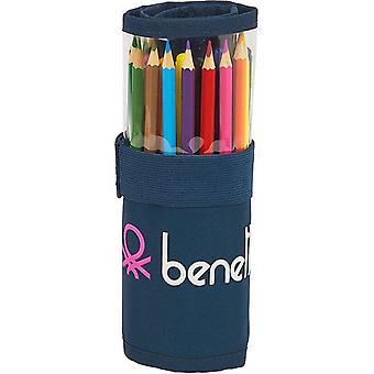 Bleistift Fall Benetton Dot Com Roll-up Marine blau (27 Stück)