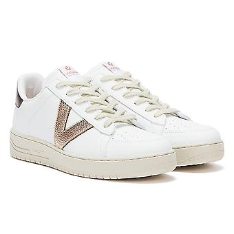 Victoria Siempre Contrast Vegan Womens White / Rose Gold Trainers