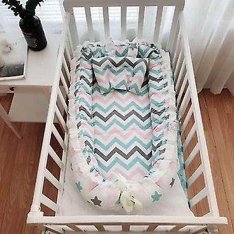 Cuna infantil, viaje portátil cuna bebé cesta de dormir, algodón recién nacido