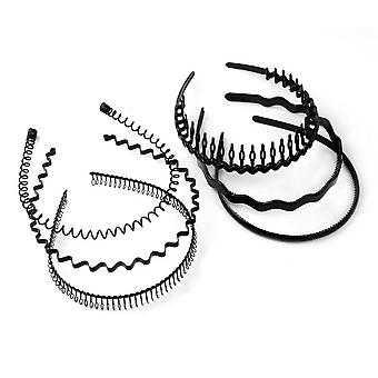 6pcs Iron Steel Waves Spiral Hair Band Hair Hoop Hairpin Buckle