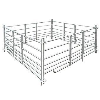 Enclos à moutons 4 côtés Acier galvanisé 183 x 183 x 92 cm