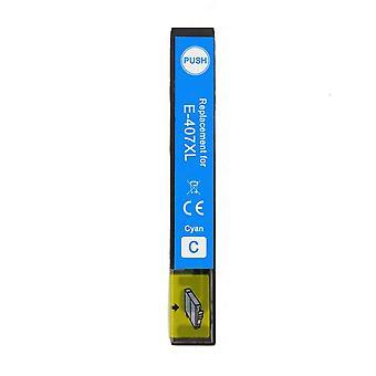1 Cyan Tintenpatrone ersetzt Epson 407XLC Compatible/Non-OEM von Go Inks