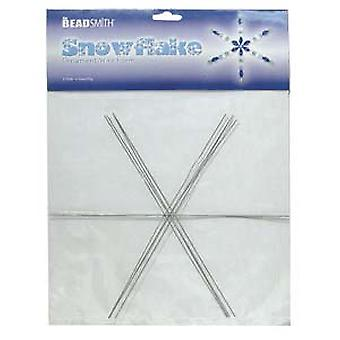 Beadsmith Metal Wire Snowflake Forms - Hauska käsityön beading-projekti 9 tuumaa (4 lumihiutaletta)