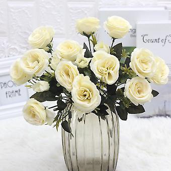 5pcs flor artificial flor europea rosa seca flor falsa flor