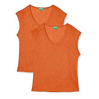 United Colors of Benetton 3S1ME16B1 T-shirt, Harvest Pumpkin 1c0, XS Women