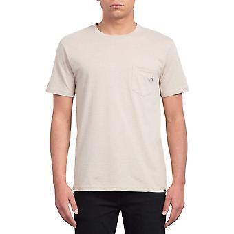 Volcom Heather Pckt Short Sleeve T-Shirt in Oatmeal