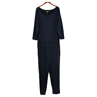 Brittany Humble Jumpsuits Off-Shoulder One-Piece Navy 720036