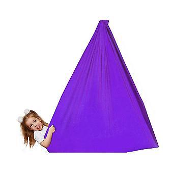 Purple premium indoor yoga sensory hammocks for kids adults outdoor sport dt5524