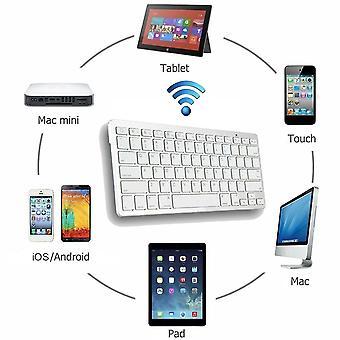 Langaton bluetooth-näppäimistö ladattava erittäin ohut kotitoimiston näppäimistö ipad apple mac tietokone ios windows android tabletti