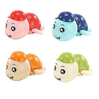 9.5X9x6.5cm assorted color 4pcs funny floating turtles kids training game toy clockwork toys for kids dt2314