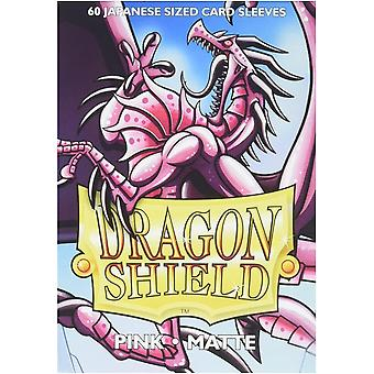 Dragon Shield Matte Pink Japanese Size Card Sleeves - 60 Sleeves