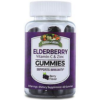 Garden Greens Elderberry with Vitamin C & Zinc, 60 Gummies